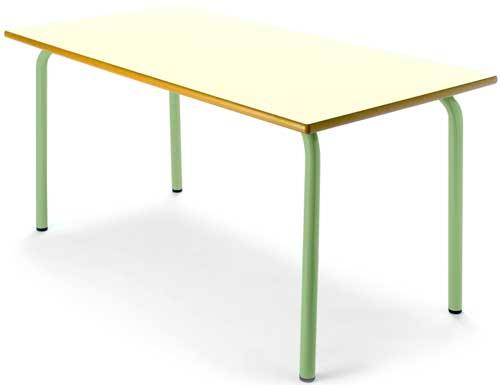 Mesa infantil 110x55 cm 54 cm alto tapa crema