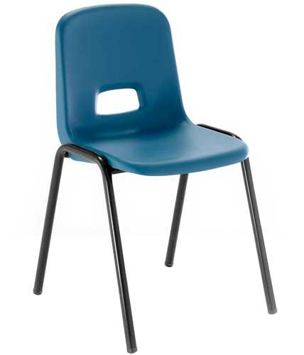 Silla T3 estructura negra asiento azul