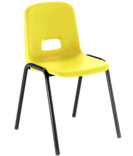 Silla T3 estructura negra asiento amarillo
