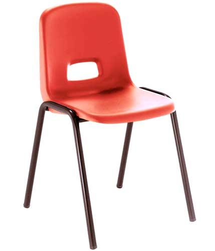 Silla T3 estructura negra asiento rojo