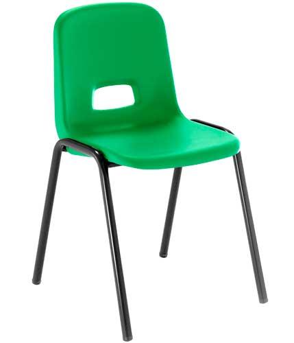 Silla T3 estructura negra asiento verde