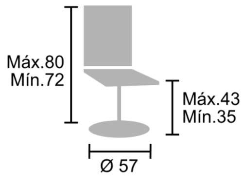 Silla para educadores, asiento de 35 a 43 cm detalle 2
