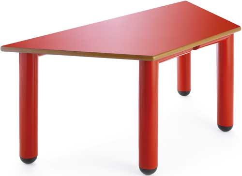 Mesa Nesta trapecio 120x60 cm talla 2 detalle 4