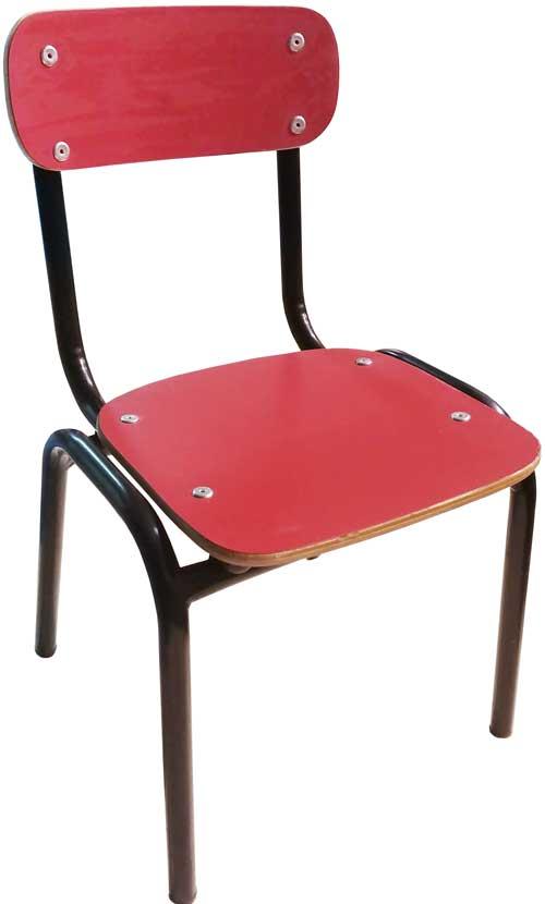 Silla infantil roja estructura negra alto 30 cm