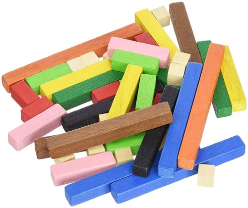 Regletas madera 1x1 cm 60 ud
