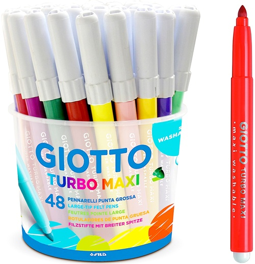 Rotuladores Giotto grueso bote 48 ud