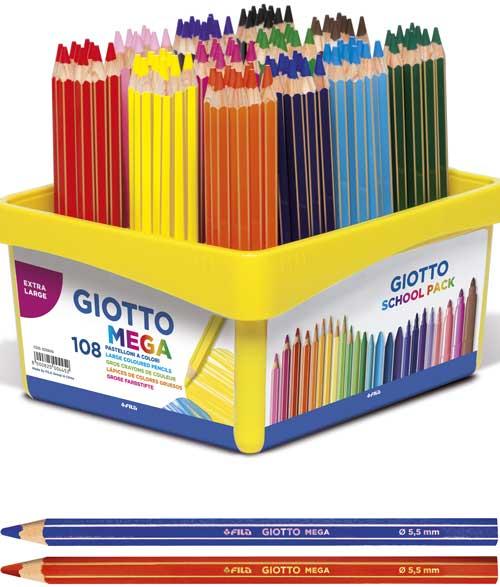 Lápices Mega Schoolpack 108 ud