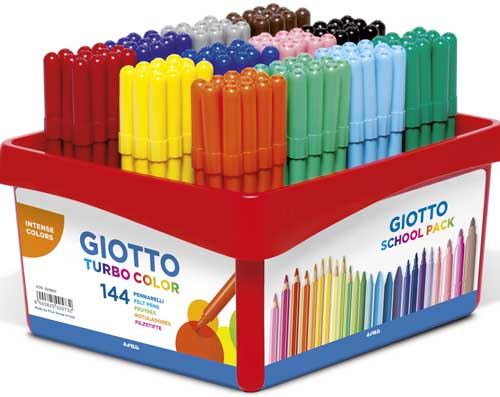 Rotuladores Giotto fino schoolpack 144 ud