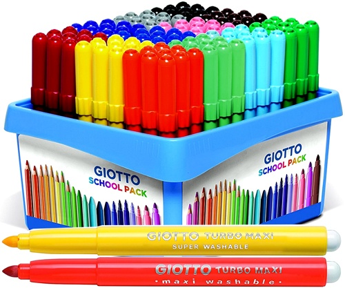 Rotuladores Giotto grueso schoolpack 108 ud