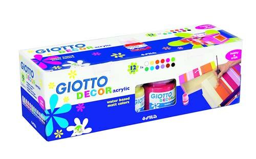 Acrylic Giotto 12 colores detalle 3