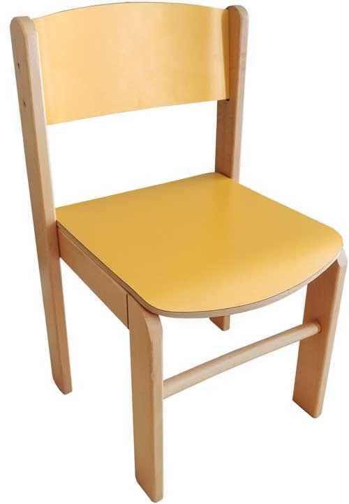 Silla infantil Adrada amarilla asiento 30 cm alto