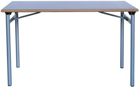 Mesa 120x70 patas plegables gris