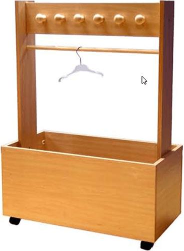 Mueble guarda-juguetes con perchero 6 pomos