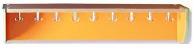Percha 9 ganchos metálicos dobles con repisa 104×20×20cm