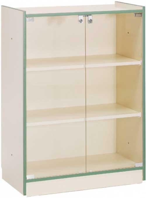 Armario puertas de cristal 111,5x83x40 cm