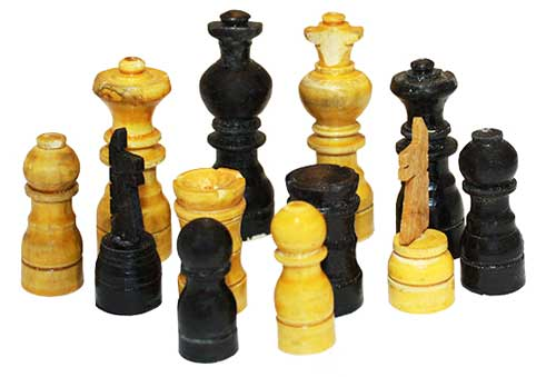 Fichas ajedrez madera 6,5cm