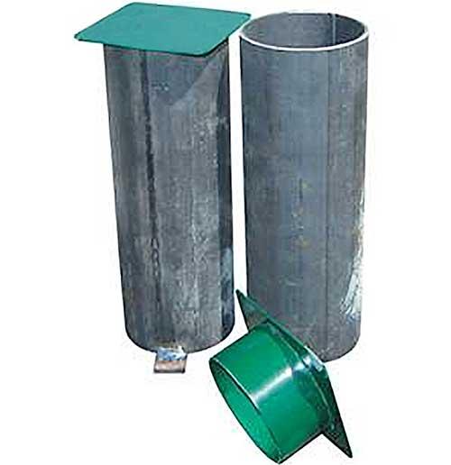 Botes para postes metal redondos 2 ud