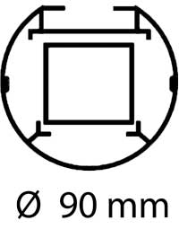 Postes voley fijos aluminio redondos 2 ud detalle 6