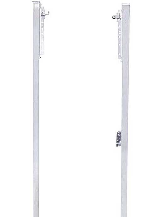 Postes voley fijos aluminio cuadrados 2 ud detalle 4