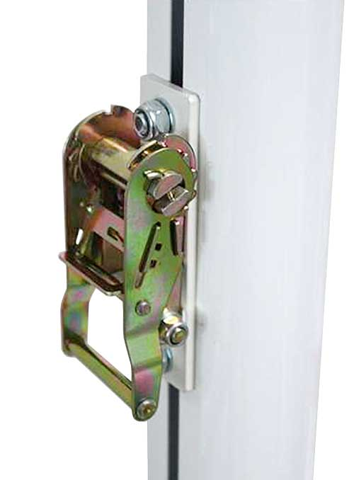 Postes trasladables aluminio cuadrados 2 ud detalle 4