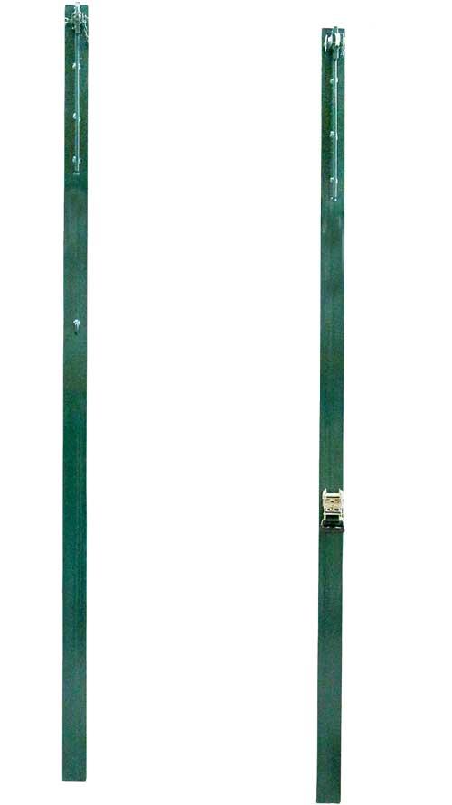 Postes voley fijos metal cuadrados 2 ud