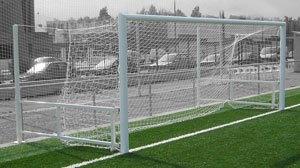 Porterías fútbol 11 abatibles aluminio
