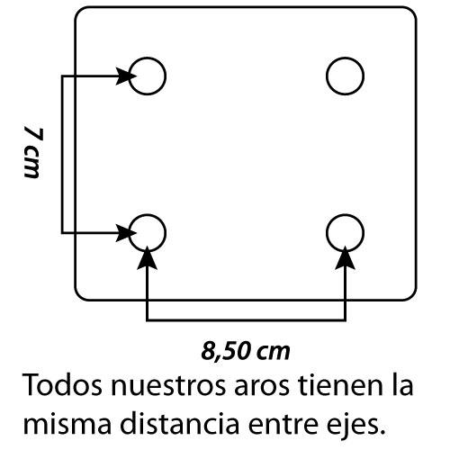 Aros basket macizos galvanizados 2 ud detalle 1