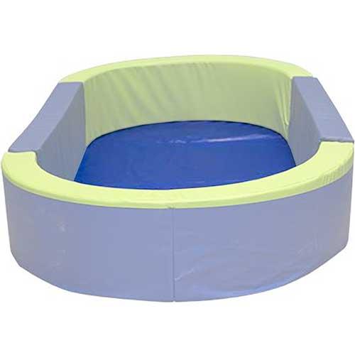 Suelo para piscina ovalada 300 x 150  x 30 cm