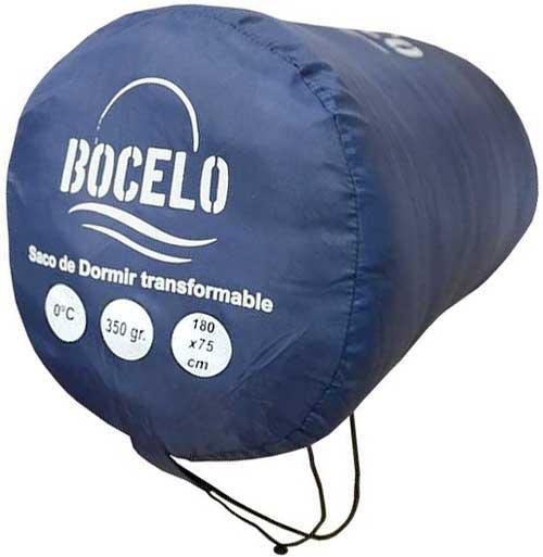 Saco de dormir transformable Bocelo azul detalle 2