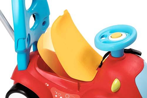 Correpasillos andador balancín coche rojo detalle 5