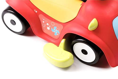 Correpasillos andador balancín coche rojo detalle 7