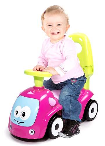Correpasillos andador balancín coche rosa