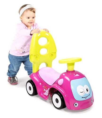 Correpasillos andador balancín coche rosa detalle 2