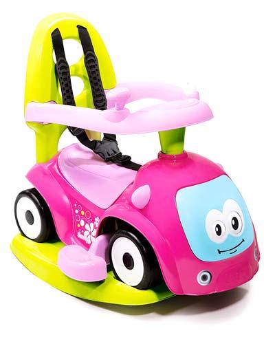 Correpasillos andador balancín coche rosa detalle 4