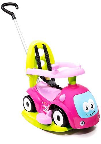 Correpasillos andador balancín coche rosa detalle 5
