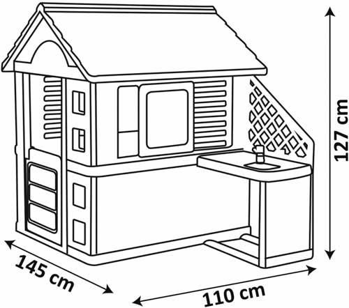 Casa natural con barbacoa detalle 4