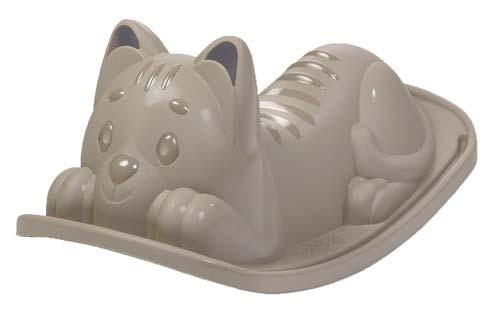 Balancín gato gris detalle 1