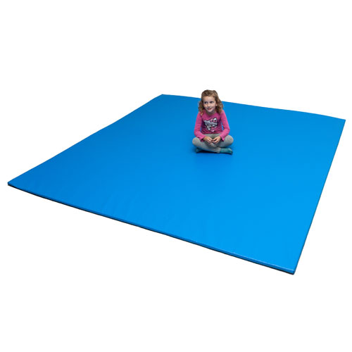 Tatami 245 x 245 cm plegable azul