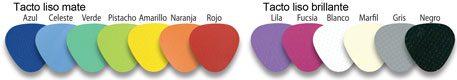 Colores tacto PVC