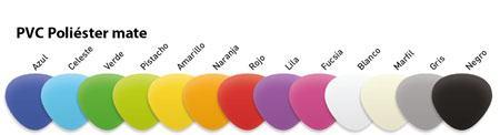 Colchoneta espaldera 110 x 60 x 2 cm PVC Colors detalle 1