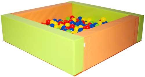 Piscina de bolas cuadrada 105 x 150 x 40 x15 cm detalle 3