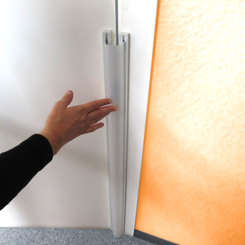Protector traslúcido interior puerta 10 x 120 cm alto