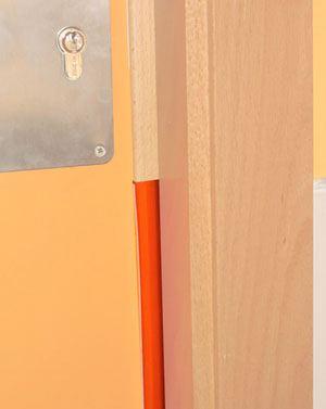 Protección de puerta media luna acolchada