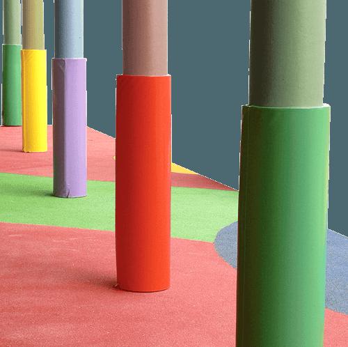 Protectores de columna fabricados a medida detalle 8