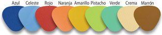 Colores tacto pie