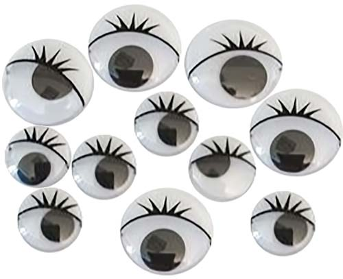 Ojos negros pestañas surtidos 100 ud