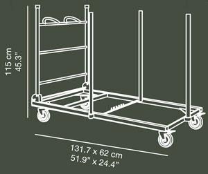 Carro porta-mesas LTROLL (20 mesas) detalle 1