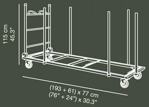 Carro porta-mesas XLTROLL detalle 1