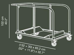 Carro mesas PLTROLL -15 ud.- detalle 1