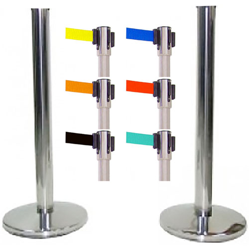 2 postes acero inox para cabeza intercambiable